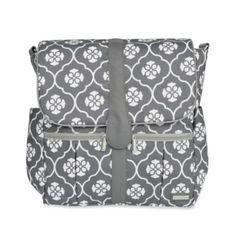 JJ Cole® Backpack Diaper Bag in Grey Floret - buybuyBaby.com