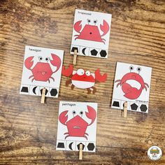 These silly crabs are a fun way to practice shape matching skills along with fine motor and hand-eye coordination. Find this activity in the $5 Under the Sea Pack! #shop #prekprintablefun Life Skills Lessons, Teaching Life Skills, Teaching Aids, Teaching Strategies, Camping Activities For Kids, Pre K Activities, Preschool Lesson Plans, Preschool Printables, File Folder Activities