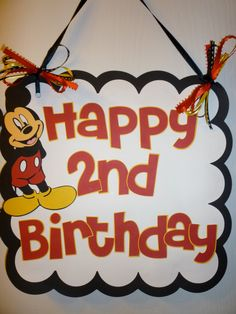 Mickey Mouse Birthday Door sign  Ready to by PurpleZebraPaperCo, $12.50