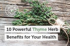 Thyme Provides Many Health Benefits