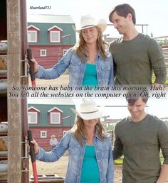 Is it just me or is Amy showing some of her pregnancy? Heartland Season 10, Amy And Ty Heartland, Heartland Quotes, Heartland Ranch, Heartland Tv Show, Heartland Actors, Best Tv Shows, Best Shows Ever, Favorite Tv Shows