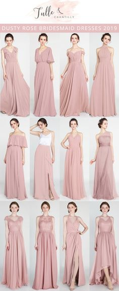 0336fd79bd 7 Best Dusty Rose Bridesmaid Dresses images