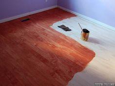 Plywood strip flooring- looks great!
