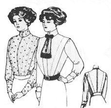 1914 Tailored Shirt Waists Pattern