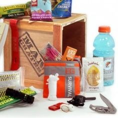 Gift Ideas: Man Crates: Outdoor Survival Crate Man Crates makes gifts for every type of man (again, as a woman I wouldnt mind some of these) from the athlete to outdoorsman, retro gamer, grill king, beer lover, carnivore or just the guy who likes snacks. There are even three zombie apocalypse preparedness crates. What more could you ask for?