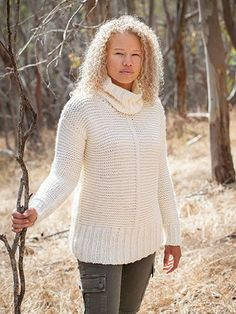 ANNIE'S SIGNATURE DESIGNS: Chunky Garter Sweater Knit Pattern designed by Lena Skvagerson for Annie's. Order here: https://www.anniescatalog.com/detail.html?prod_id=132024&cat_id=2389
