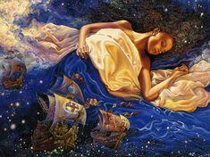 Josephine Wall 1947   British Mystical Fantasy painter