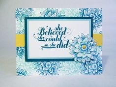 Stampin Up Blooms and Butterflies Color Challenge   BB16