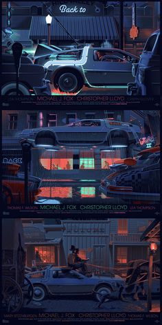 Andy Fairhurst's excellent 'Nerd's Eye View' series has given us some gorgeous new perspectives on pop culture icons - but this new series of prints based on the Back To The Future might be some of Fairhurst's finest so far.