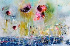 """""""Untitled"""" 40"""" x 60"""" Mixed Media on Canvas by Emilija Pasagic. From Crescent Hill Gallery in Mississauga, ON"""