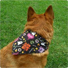 DIY Tutorial: Reversible Dog Bandanas | Gleeful Things