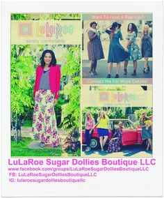 LuLaRoe is such an amazing line of clothing that is simply comfortable! To find out more about LuLaRoe follow us on IG (lularoesugardolliesboutiquellc) and FB (LuLaRoe Sugar Dollies Boutique LLC)