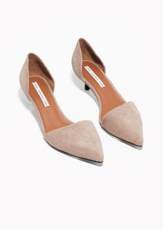 & Other Stories | Kitten Heel Suede Pumps