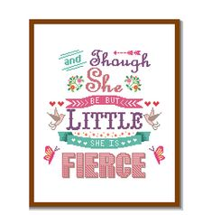 Instant Download Cross Stitch Pattern Though she by ZindagiDesigns