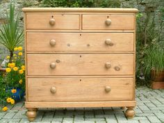 A Victorian Pine 5 Drawer Chest - Antiques Atlas