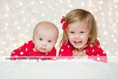 siblings and twinkle lights!