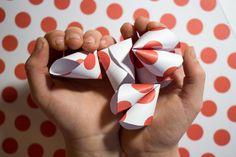 How sweet are these Paper Fortune Cookies from Unsophisticook?