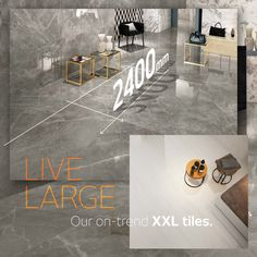 We have been singing love songs about our on-trend XXL tiles for ages, and we're not stopping any time soon. They open up a space, create seamless continuity, reduce installation time, reinvent brutalist style, and work big magic on floors, facades and kitchen islands. Oh, and they're more hygienic: fewer grout lines means less space for germs to hide… a covid dealbreaker. View our ranges online. #livebeautifully #trend #tiletrends #decortrends #porcelaintailes #largeformattiles #howtostyle Kitchen Islands, Grout, Large Format, Brutalist, Facades, Ranges, Floors, Tile Floor, Tiles