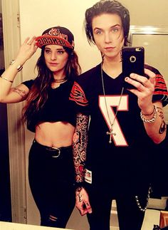 Andy and Juliet. Usually I dont like band member's girlfriends but I love Juliet. She's like amazing, and Her and andy are so cute