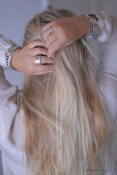 Rings And Hair  #blonde #jewelry #rings #bracelet #style