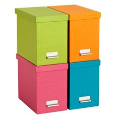 The Container Store > Bright Stockholm Desktop File. I like the blue in particular.