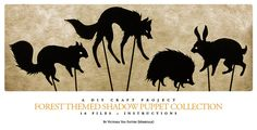 DIY Forest-Themed Shadow Puppet Pattern Collection (DOWNLOAD) on Etsy, $10.00