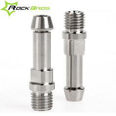 ROCKBROS Bike Bicycle Titanium Ti Brake Post V-Brake V Brake Bosses M10 x 1.25m 2pcs & M6 x 16mm Conical Head 2pcs