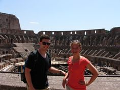 Gus Manke took a trip to Rome and the Vatican this summer- here he is pictured with his sister in front of the Coliseum.