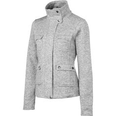 Who says city clothes can't be comfortable? A fleece with urban styling, the Patagonia Women's Better Jacket is made of polyester with a sweater-knit face and a fleece interior. The tall, buttoned collar looks classy, and the four patch pockets with button closures will help you stay organized.