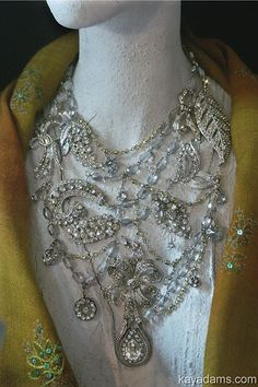 Wedding Necklace. MeanderinG BlinG. Take a Walk on The от KayAdams, $300.00