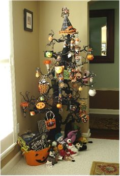 Halloween trees.    Kristenbeasondesigns