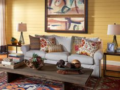 Colorfully, BEHR :: Mix and match color and pattern