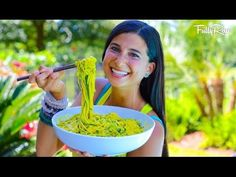 Raw Vegan Mango Avocado Noodle Salad! Delicious, sweet, simple, and sassy recipe that you will love!  Ingredients: 5-7 zucchinis 4-5 mangoes 3-4 green onion tops 1 Tbs. fresh rosemary 1/3 an avocado  Directions: Spiralize your zucchinis and place them in a bowl. Then, blend the rest of the...