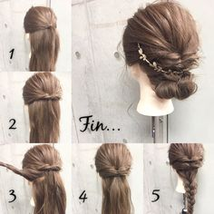 HAIR is a site where trend information gathers mainly on hairstyles sent by stylists and models. 20 … - New Site Bun Hairstyles, Pretty Hairstyles, Wedding Hairstyles, Bridesmaid Hair, Prom Hair, Hair Upstyles, Hair Arrange, Grunge Hair, Hair Today