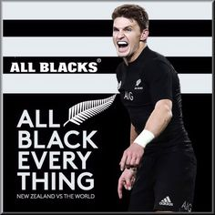 All Blacks Rugby poster created by Gordon Tunstall using Adobe Photoshop & Corel PaintShop Pro - 2016 All Blacks Rugby Team, Nz All Blacks, Rugby Poster, Black Beats, British Lions, Vs The World, Rugby Players, Barbarian, Black Magic