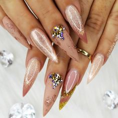 18 Acrylic Nails Ideas that You Can't Pass by ★ Stiletto Shape Acrylic Nails Picture 5 ★ See more: http://glaminati.com/acrylic-nails/ #acrylicnails #nailsdesigns
