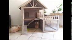 Cute Indoor Bunny Hutch / House