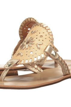 Jack Rogers Georgica Raffia (Natural/Gold) Women's Sandals - Jack Rogers, Georgica Raffia, 1217SS0010-103, Footwear Open Casual Sandal, Casual Sandal, Open Footwear, Footwear, Shoes, Gift, - Street Fashion And Style Ideas