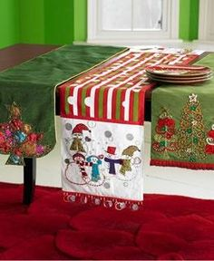 Beautiful Christmas Table Runner