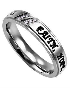 The Women's GLX Faith Hope Love ring
