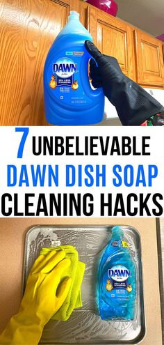 Homemade Cleaning Products, Household Cleaning Tips, Cleaning Recipes, Cleaning Hacks, Diy Cleaners, Cleaners Homemade, Cleaning Cabinets, Dawn Dish Soap, Grease Stains