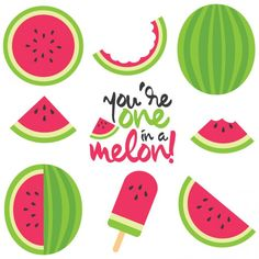Watermelon Cut Files + Clip Art Celebrate summer with free watermelon SVG / DXF cut files and PNG clip art! Nine yummy designs for all of your summer projects. Watermelon Clipart, Watermelon Cartoon, Watermelon Crafts, Watermelon Designs, Cut Watermelon, Watermelon Quotes, Illustration Vector, Illustrations, Free Font Design