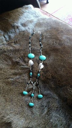 Turquoise and black onyx necklace