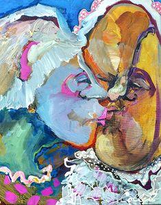 """Acrylic on canvas/Acrylique sur toile - 20"""" x 16/51 x 40.5 cm Acrylic Paintings, Art, Baby Fat, Canvas, Art Background, Kunst, Gcse Art, Art Education Resources, Artworks"""