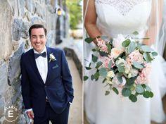 groom, boutonniere, exposed stem boutonniere #fleurtaciousdesigns - Elario Photography