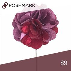 "New Men's Lavender $ Wine Satin Flower Lapel Pin New Men's Lavender Purple and Wine Red Satin Flower Lapel Pin. Length: 3"" ; Diameter: 1.75"" The Modern Gallant Accessories"