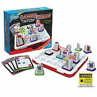 The Thinkfun Laser Maze, the beam-bending logic game, has lights and mirrors that may feel like magic, but it's really science and brain power.  Use both to direct the laser beam to solve 60 mind challenging mazes.