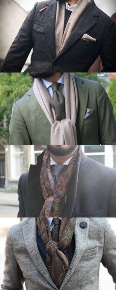 ストール、マフラーなどの巻き方 stole_muffler_ scarf (4)