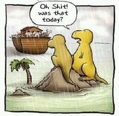 #dinohumor  Oh so that's how they didn't survive!!!