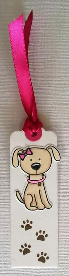 Bookmark using Simon Says Stamp stamps and dies (You Are Pawsome). Created by Iris Esther López Bartolomei for Boricards. #SSSFAVE